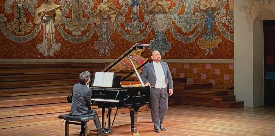 Ángel Rodríguez i Javier Camarena al Palau de la Música / Foto de Manel Haro.