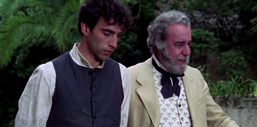Imanol Arias i Fernando Rey en la pel·lícula de Jaime Chávarri.