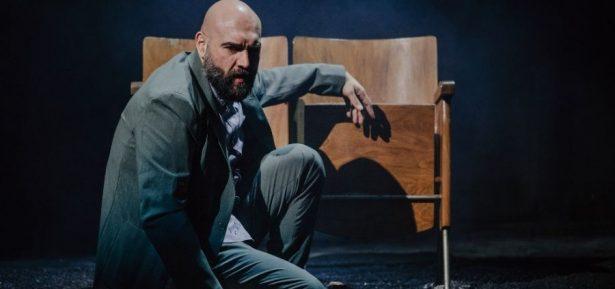 Imatge de l'espectacle Winterreise amb el contratenor Xavier Sabata. © Óscar Romero.