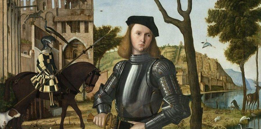 Jove cavaller en un paisatge del venecià Vittore Carpaccio