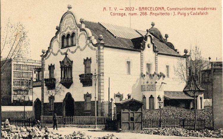 La desapareguda Casa Trinxet de Puig i Cadafalch, a Barcelona.
