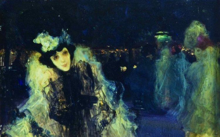 'Visió nocturna parisenca'. París, cap al 1899. Museu del Cau Ferrat, Sitges.